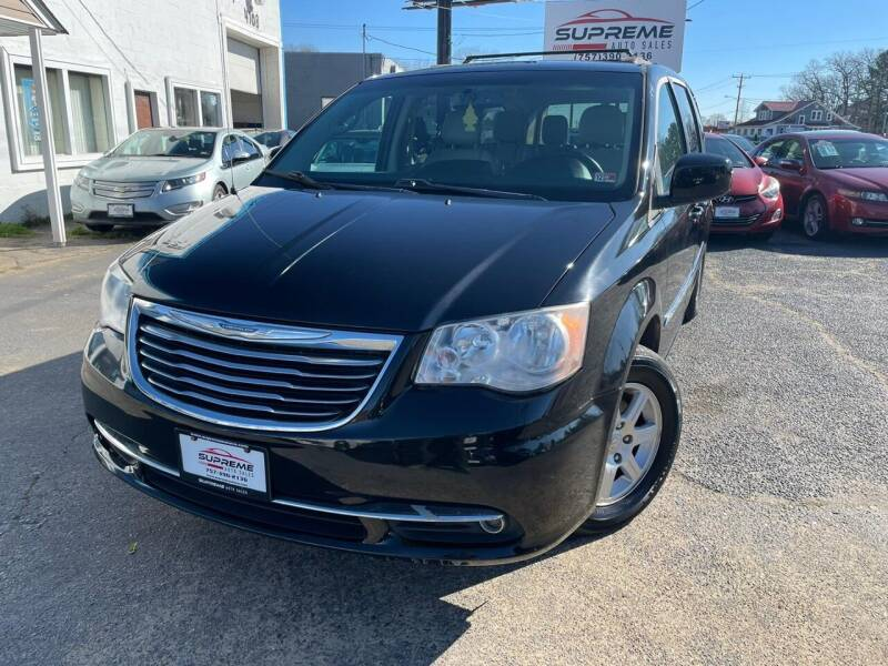 2013 Chrysler Town and Country for sale at Supreme Auto Sales in Chesapeake VA