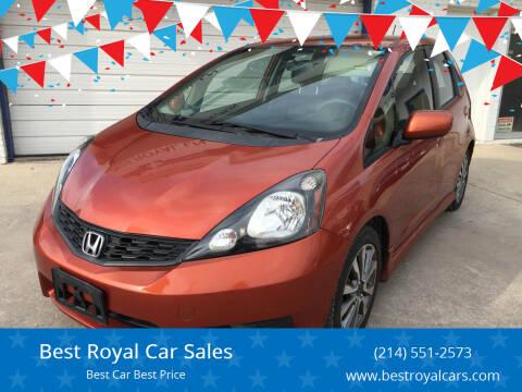 2012 Honda Fit for sale at Best Royal Car Sales in Dallas TX