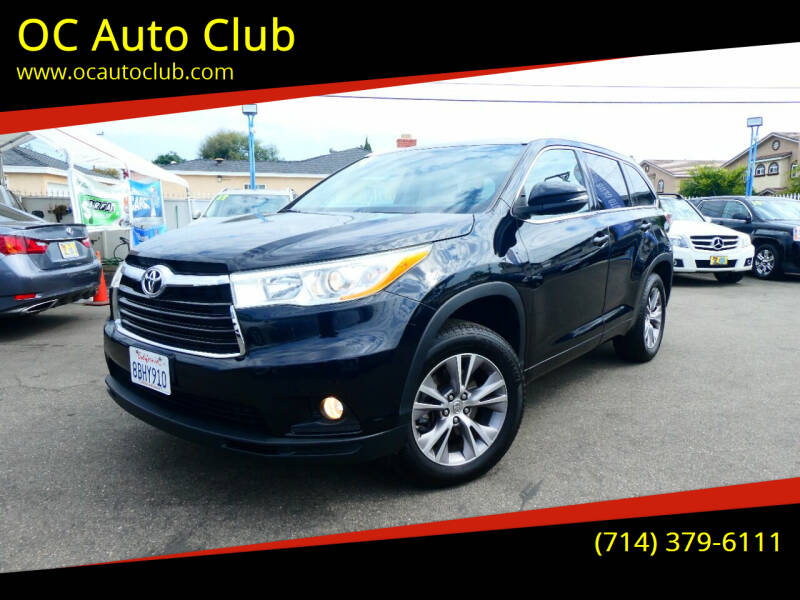 2014 Toyota Highlander for sale at OC Auto Club in Midway City CA