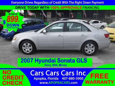 2007 Hyundai Sonata for sale at CARS CARS CARS INC in Apopka FL