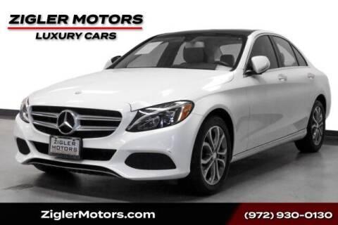 2015 Mercedes-Benz C-Class for sale at Zigler Motors in Addison TX