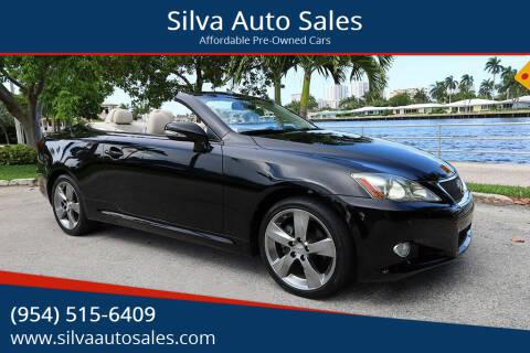 2010 Lexus IS 250C for sale at Silva Auto Sales in Pompano Beach FL