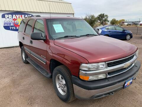 2003 Chevrolet Tahoe for sale at Praylea's Auto Sales in Peyton CO