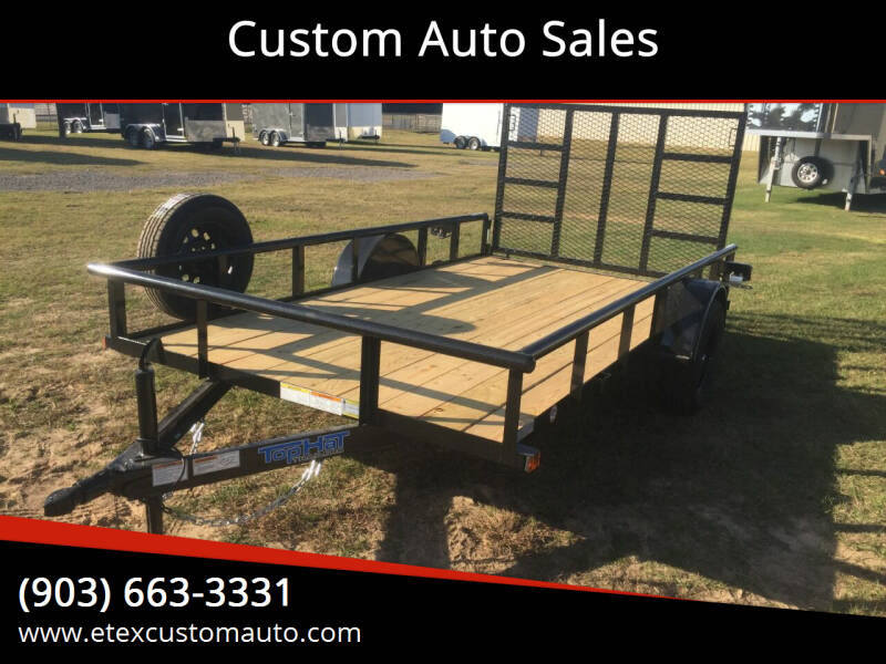 2021 Top Hat 6.5x12 Single Axle for sale at Custom Auto Sales - TRAILERS in Longview TX
