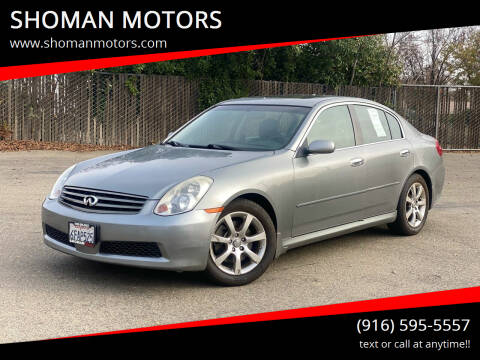 2005 Infiniti G35 for sale at SHOMAN MOTORS in Davis CA