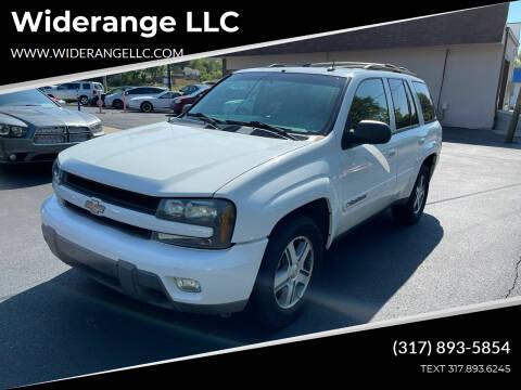 2004 Chevrolet TrailBlazer for sale at Widerange LLC in Greenwood IN
