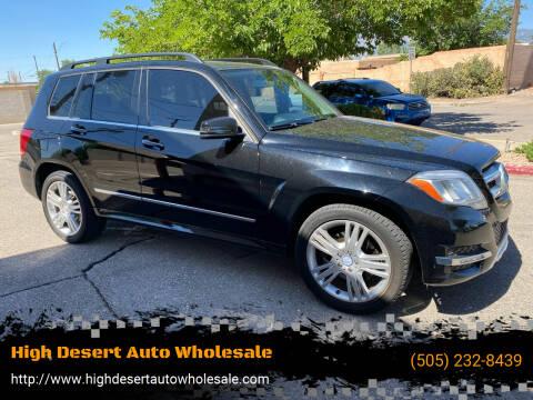 2014 Mercedes-Benz GLK for sale at High Desert Auto Wholesale in Albuquerque NM