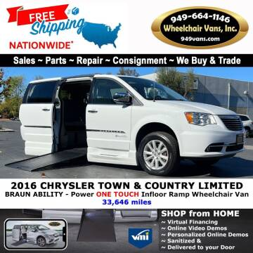 2016 Chrysler Town and Country for sale at Wheelchair Vans Inc - New and Used in Laguna Hills CA
