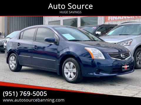 2012 Nissan Sentra for sale at Auto Source in Banning CA