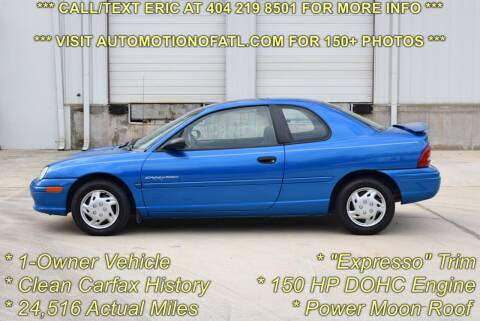 1998 Plymouth Neon for sale at Automotion Of Atlanta in Conyers GA
