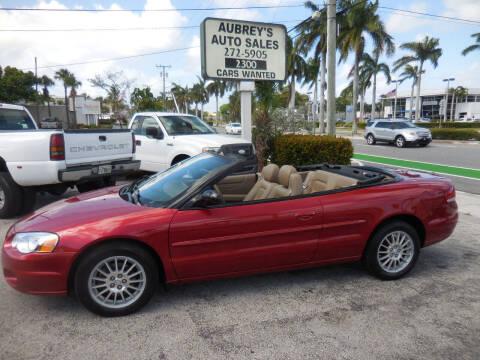 2004 Chrysler Sebring for sale at Aubrey's Auto Sales in Delray Beach FL