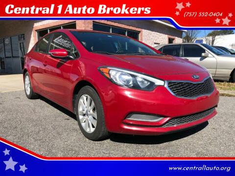 2014 Kia Forte for sale at Central 1 Auto Brokers in Virginia Beach VA
