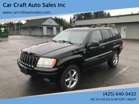 2001 Jeep Grand Cherokee for sale at Car Craft Auto Sales Inc in Lynnwood WA