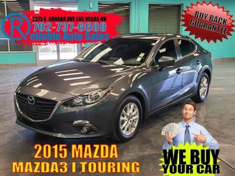 2015 Mazda MAZDA3 for sale at Reliable Auto Sales in Las Vegas NV