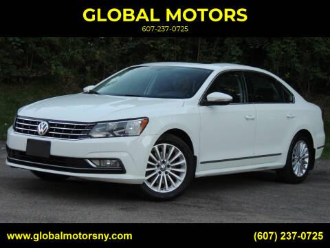 2016 Volkswagen Passat for sale at GLOBAL MOTORS in Binghamton NY