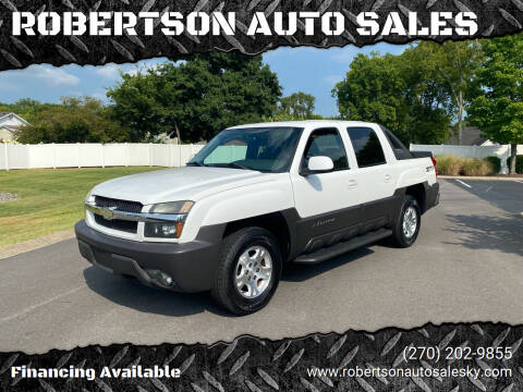 2004 Chevrolet Avalanche for sale at ROBERTSON AUTO SALES in Bowling Green KY