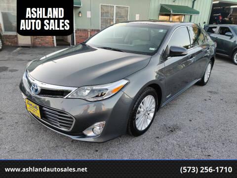 2013 Toyota Avalon Hybrid for sale at ASHLAND AUTO SALES in Columbia MO