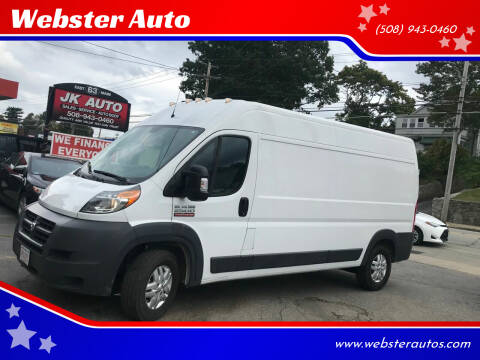 2017 RAM ProMaster Cargo for sale at Webster Auto Sales in Webster MA