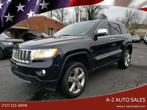 2011 Jeep Grand Cherokee for sale at A-Z Auto Sales in Newport News VA