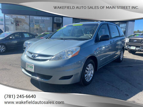 2009 Toyota Sienna for sale at Wakefield Auto Sales of Main Street Inc. in Wakefield MA