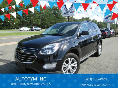 2016 Chevrolet Equinox for sale at AUTOTYM INC in Fredericksburg VA
