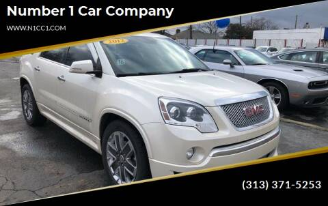 2012 GMC Acadia for sale at NUMBER 1 CAR COMPANY in Detroit MI