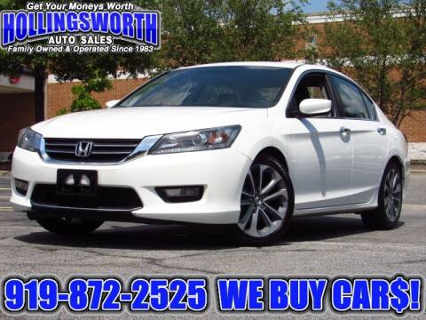 2015 Honda Accord for sale at Hollingsworth Auto Sales in Raleigh NC