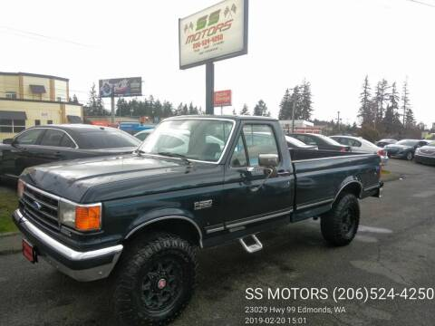1990 Ford F-250 for sale at SS MOTORS LLC in Edmonds WA
