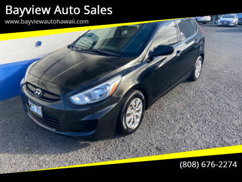 2016 Hyundai Accent for sale at Bayview Auto Sales in Waipahu HI