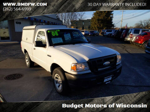 2008 Ford Ranger for sale at Budget Motors of Wisconsin in Racine WI
