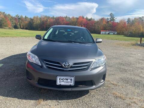 2013 Toyota Corolla for sale at DOW'S AUTO SALES in Palmyra ME