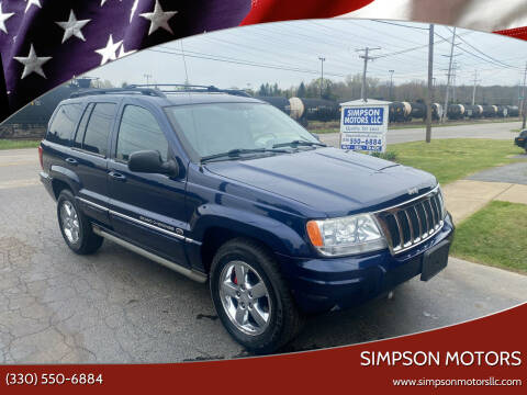 2004 Jeep Grand Cherokee for sale at SIMPSON MOTORS in Youngstown OH
