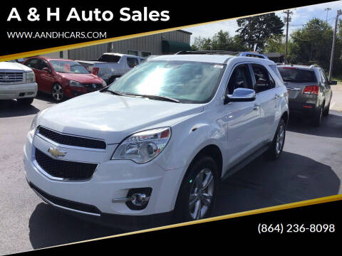 2013 Chevrolet Equinox for sale at A & H Auto Sales in Greenville SC