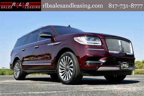 2019 Lincoln Navigator L for sale at RLB Sales and Leasing in Fort Worth TX