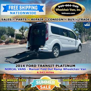 2014 Ford Transit Connect Wagon for sale at Wheelchair Vans Inc - New and Used in Laguna Hills CA