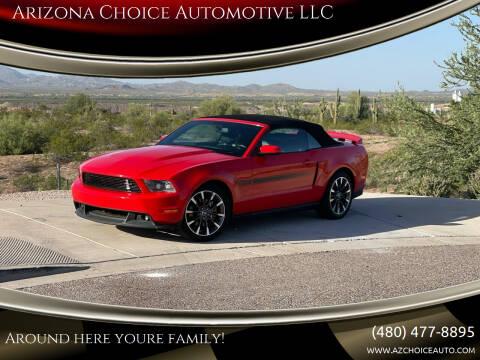 2012 Ford Mustang for sale at Arizona Choice Automotive LLC in Mesa AZ