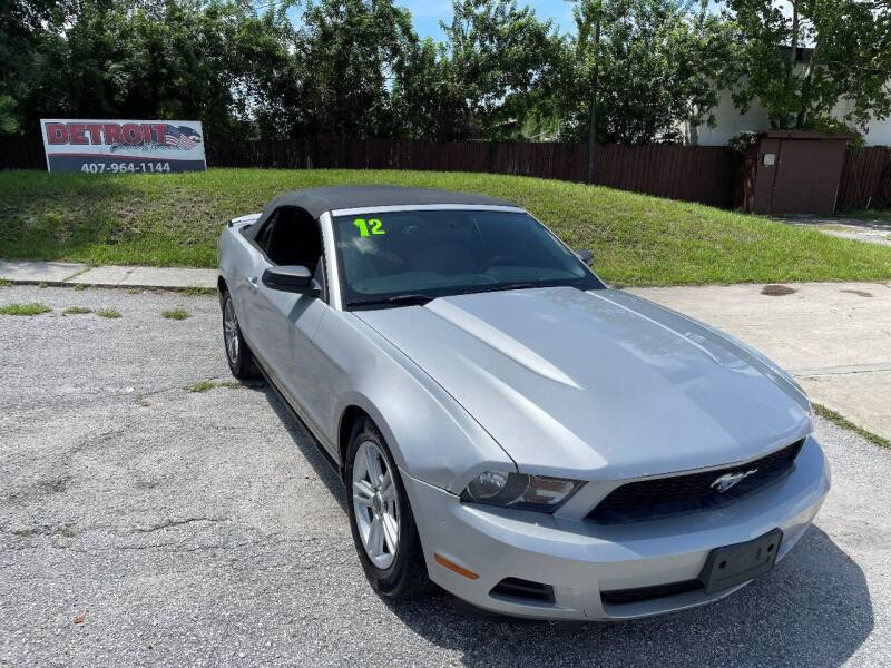 2012 Ford Mustang for sale at Detroit Cars and Trucks in Orlando FL