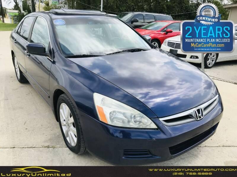 2007 Honda Accord for sale at LUXURY UNLIMITED AUTO SALES in San Antonio TX