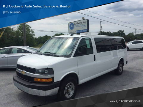 2018 Chevrolet Express Passenger for sale at R J Cackovic Auto Sales, Service & Rental in Harrisburg PA