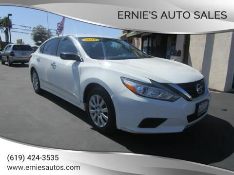 2016 Nissan Altima for sale at Ernie's Auto Sales in Chula Vista CA