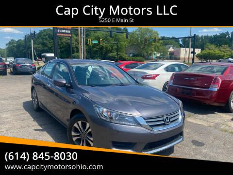 2015 Honda Accord for sale at Cap City Motors LLC in Columbus OH