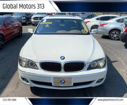 2008 BMW 7 Series for sale at Global Motors 313 in Detroit MI
