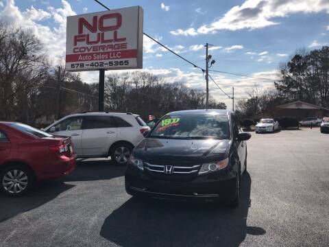 2014 Honda Odyssey for sale at No Full Coverage Auto Sales in Austell GA