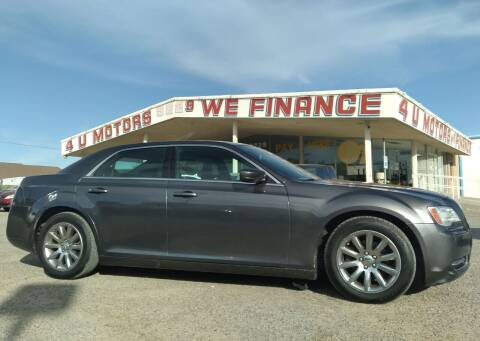 2014 Chrysler 300 for sale at 4 U MOTORS in El Paso TX