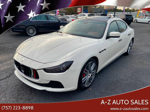 2014 Maserati Ghibli for sale at A-Z Auto Sales in Newport News VA
