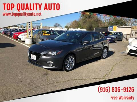 2014 Mazda MAZDA3 for sale at TOP QUALITY AUTO in Rancho Cordova CA