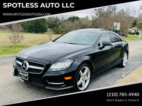 2013 Mercedes-Benz CLS for sale at SPOTLESS AUTO LLC in San Antonio TX