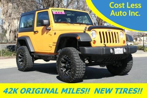 2013 Jeep Wrangler for sale at Cost Less Auto Inc. in Rocklin CA