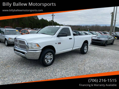 2012 RAM Ram Pickup 2500 for sale at Billy Ballew Motorsports in Dawsonville GA