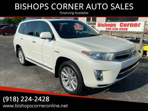 2013 Toyota Highlander Hybrid for sale at BISHOPS CORNER AUTO SALES in Sapulpa OK